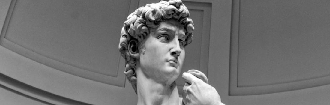 """""""Il Gigante"""" di marmo in piazza Signoria per celebrare Michelangelo"""