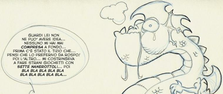 Un fumetto disegnato su marmo, a Carrara è possibile
